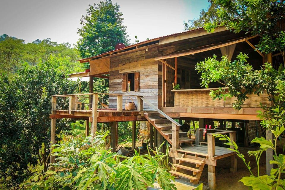 Pin By Kamthon Sarawan On ไอเด ยบ าน Architecture House In The Woods Wooden House Design