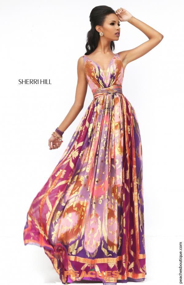 Sherri Hill Long Chiffon Dress 50557 | 2017 Sherri Hill Dresses ...