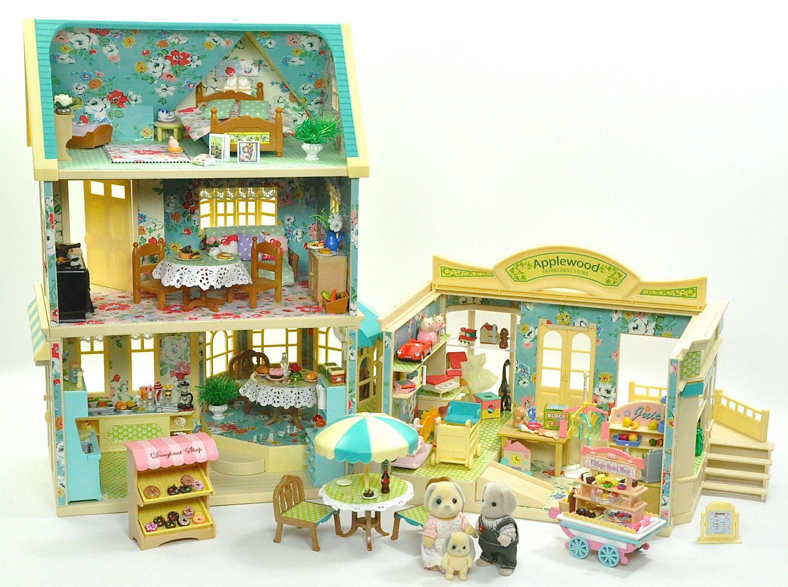 Sylvanian Families decorado Applewood House/Café/tienda De Figuras ...