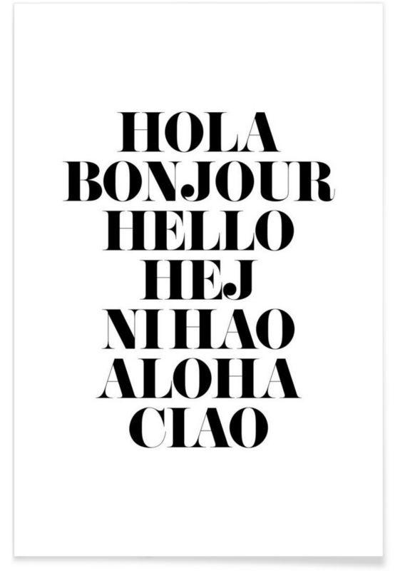 Hellos par mottos by sinan saydik en affiche sous cadre standard