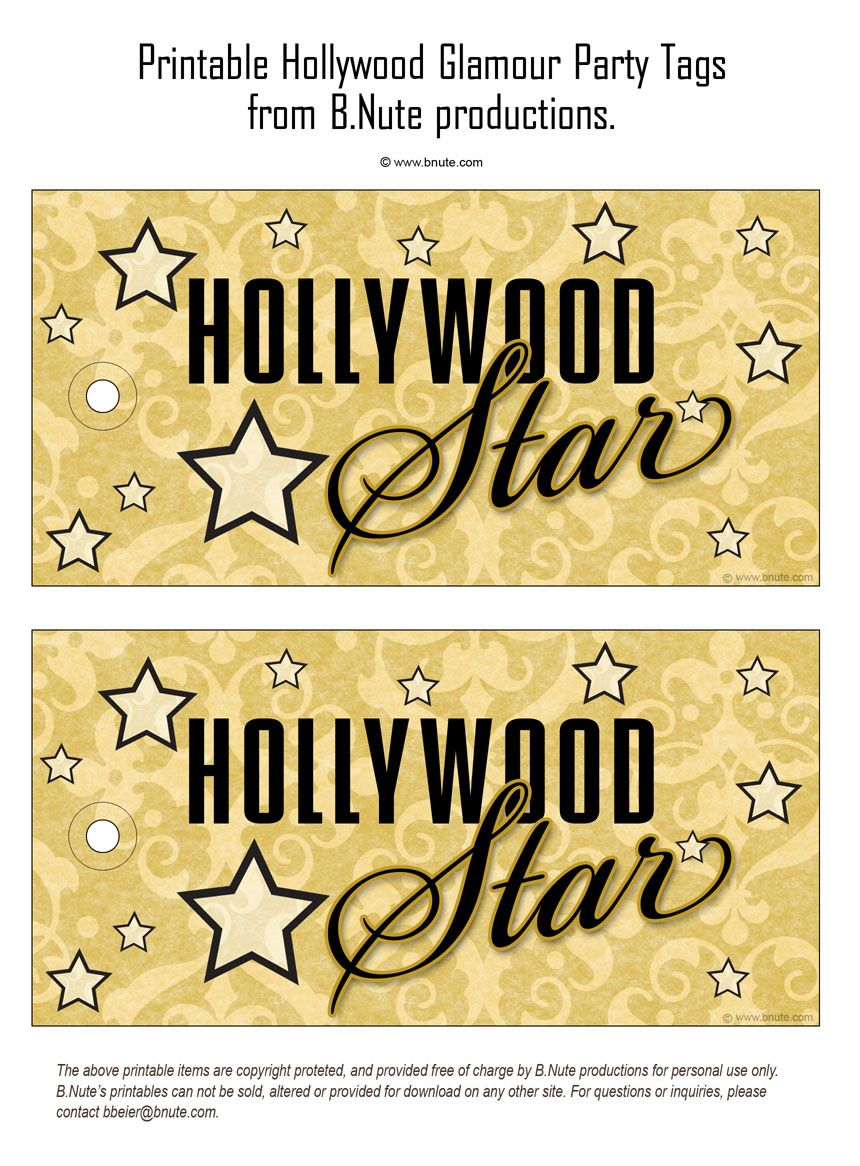 Hollywood Mottoparty Bnute Productions Printable Hollywood Glamour Party Hollywood