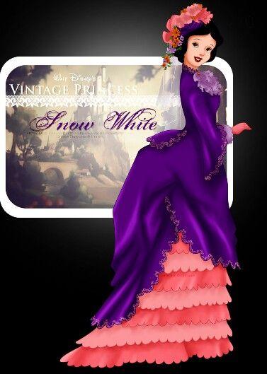 Disney :  Selinmarsou -  Vintage     Snow     White     Princess     Lady