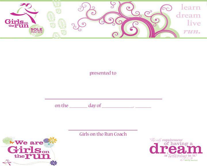 Gotr molly award, blank copy girls on the run ideas Pinterest - award paper template