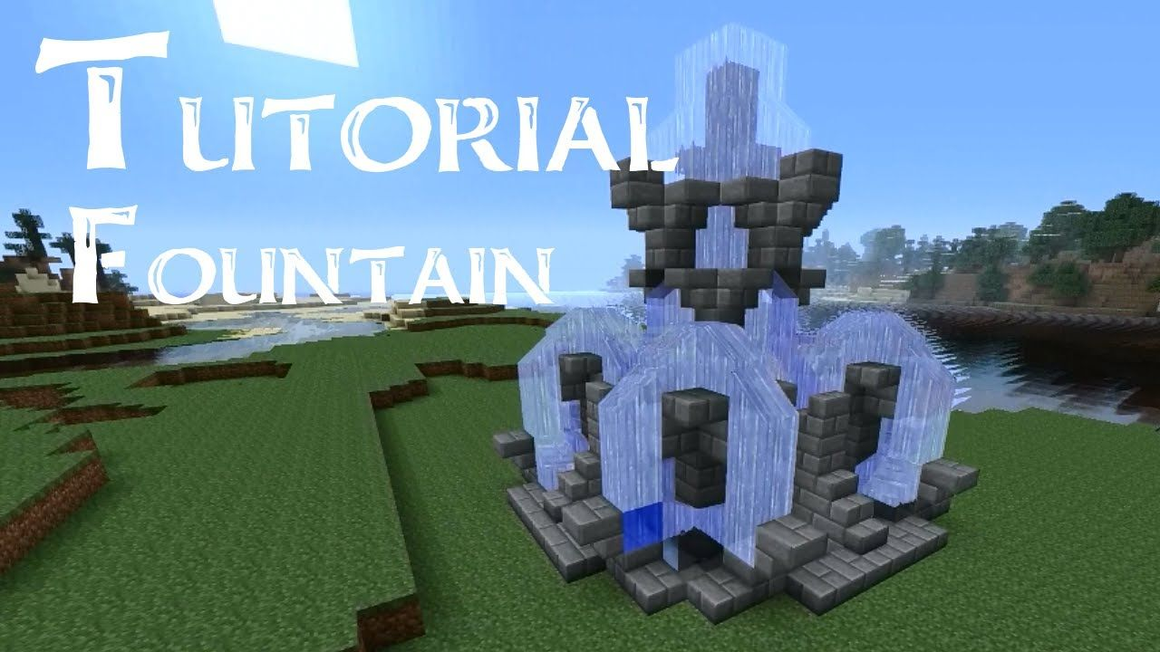 Minecraft Tutorial: How to build a large fountain - YouTube