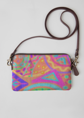 VIDA Leather Statement Clutch - Beautiful Abstract Art by VIDA