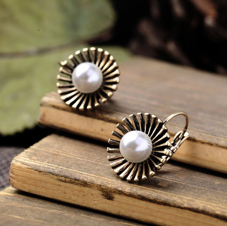 Earrings - #Antique Gold Plated, #Trendy, With Artificial Pearls