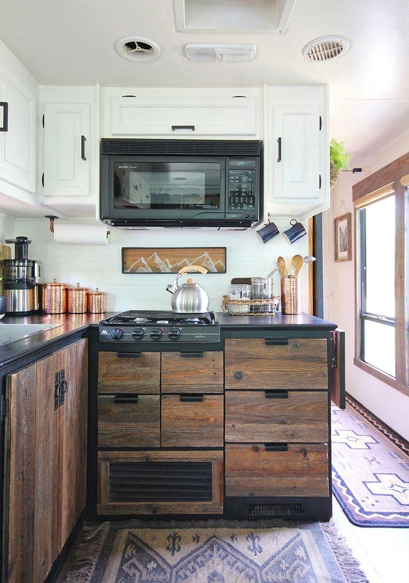 Mountain Modern Motorhome Photo Gallery Black Kitchen