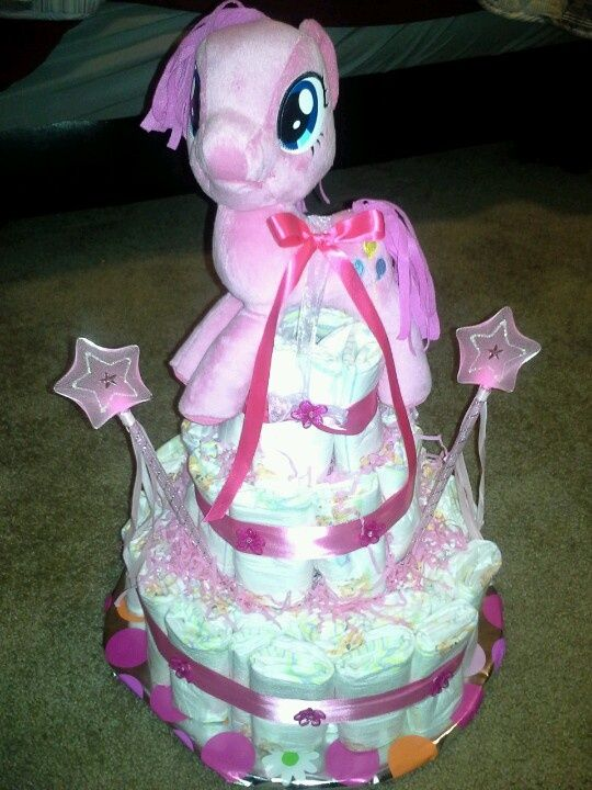 Cute My Little Pony Diaper Cake Baby Shower Ideas Pinterest