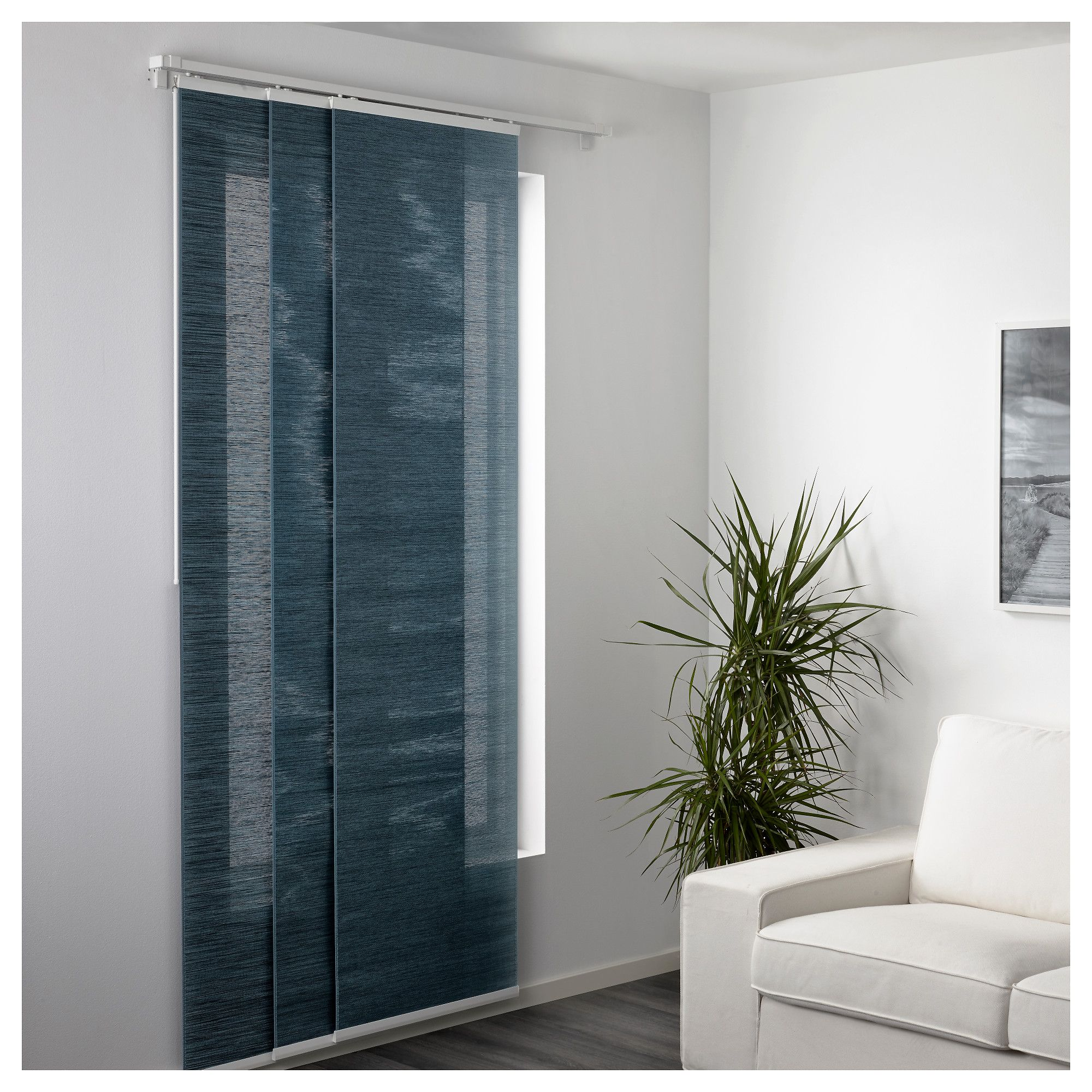 Fnsterviva Panel Curtain Bluegray Basement Panel Curtains