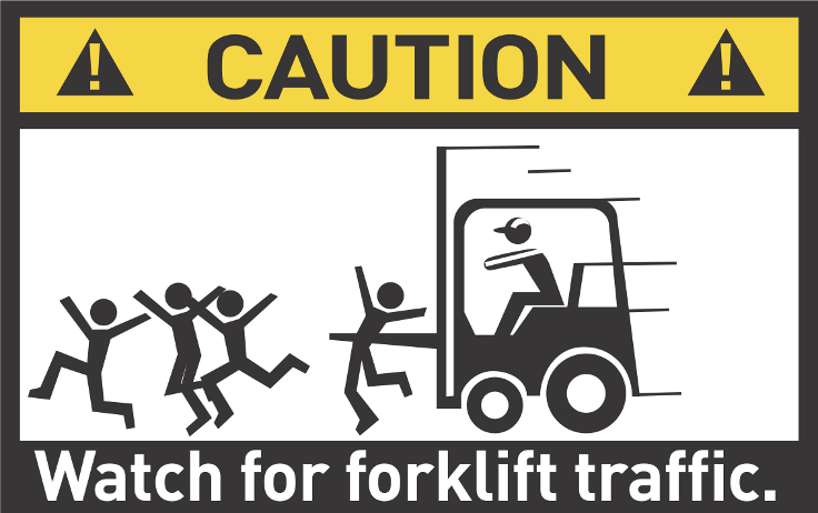 Scary Forklift Warning C O Stace Hasagawa Supplychaincowboy Com Forklift Safety Health And Safety Poster Safety Fail