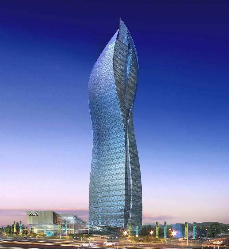 Socar Tower Baku Skyscraper Amazing Buildings Beautiful Architecture