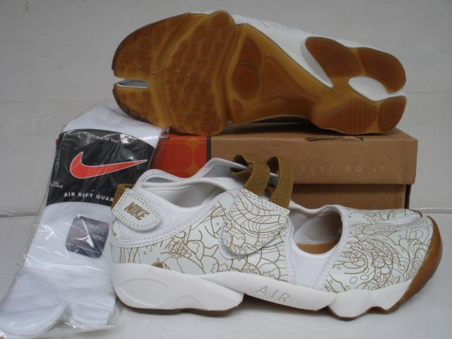 Nike Air Rift White Brown Graphic , Price: $71.56 - Nike Rift Shoes