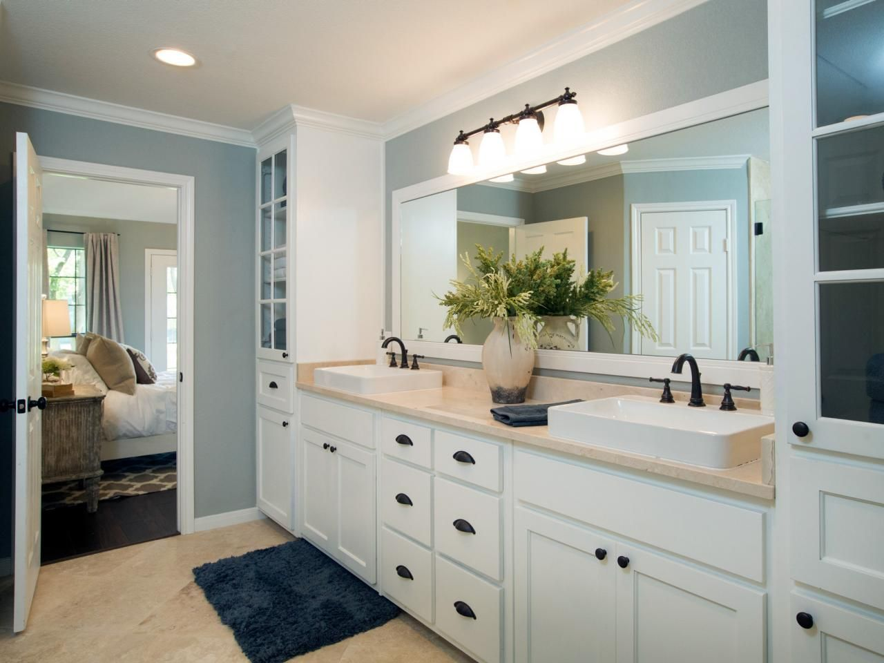 Fixer upper yours mine ours and a home on the river for Best bathrooms on fixer upper