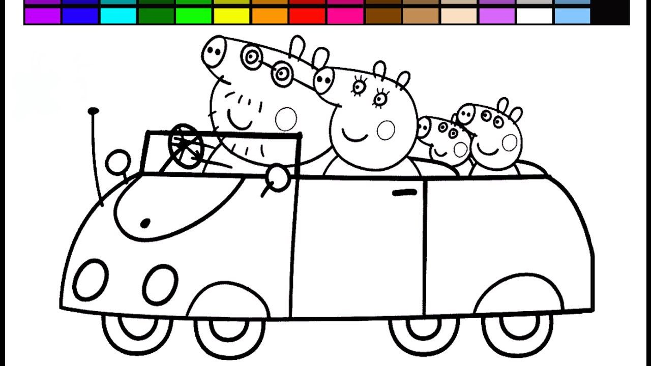 Peppa Pig Coloring Pages Car From The Thousand Pictures On The Internet Regarding Peppa Pig Color Peppa Pig Coloring Pages Peppa Pig Colouring Coloring Books