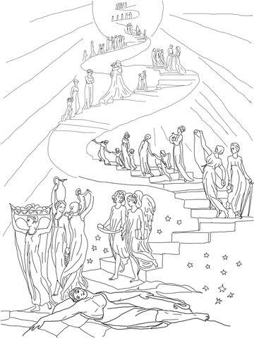 Jacob S Ladder Dream Coloring Page Ausmalbilder Ausmalen
