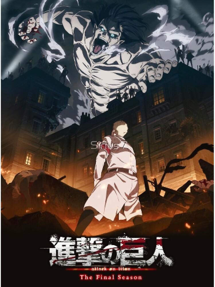 Attack On Titan Season 4 Poster Poster by Sirius 7