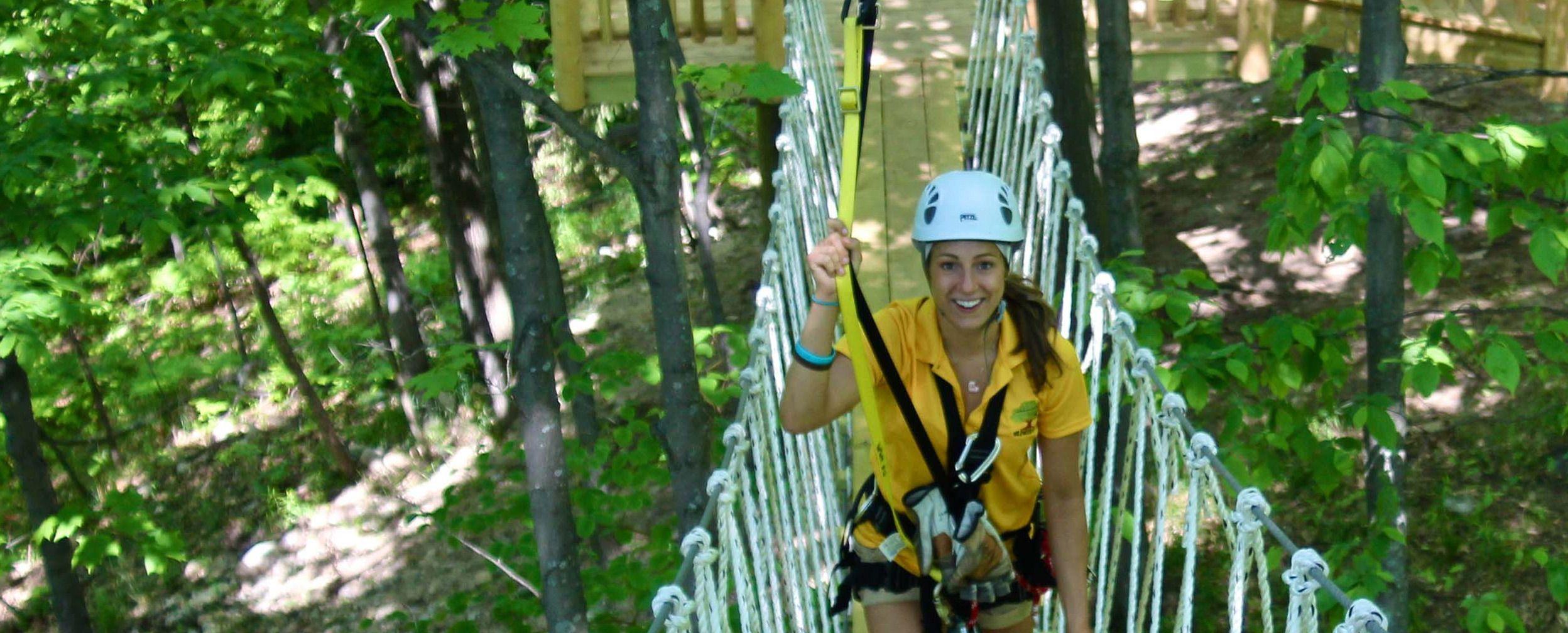 Wildwood Rush Northern Michigan Zip Line Canopy Tour Boyne City Michigan Road Trip Ziplining Northern Michigan
