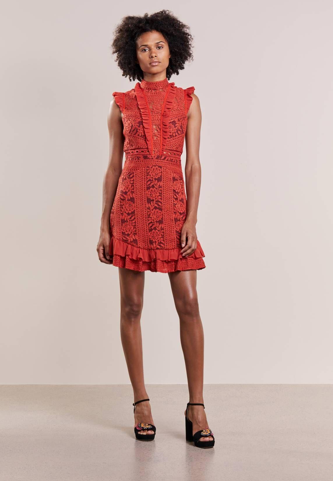 Three Floor. Cocktailkleid / festliches Kleid - rust red ...