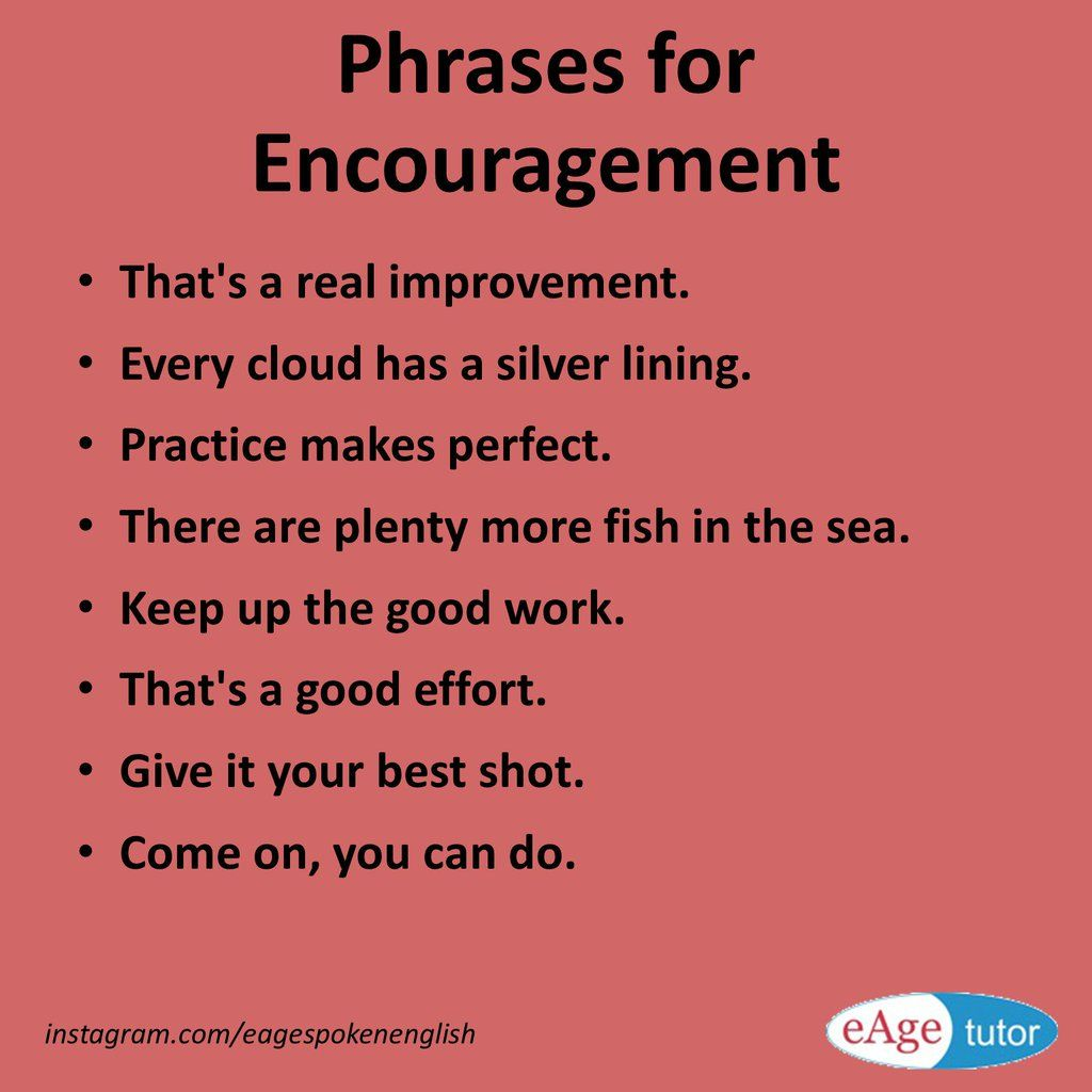 Phrases For Encouragement Learn English Encouragement