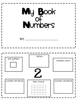 Number Review Book FREE! Includes dot pattern, tallies