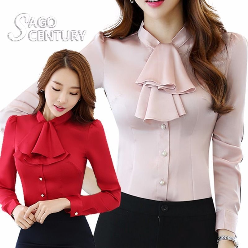 Button Up Elegant Classic Frill Evening Classy Work Office Lace Top Mesh Blouse