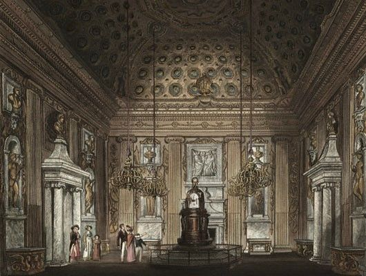 In 1722 George I hired the then unknown William Kent to decorate his three new state rooms at Kensington Palace- the Privy Chamber, the Withdrawing Room and the Cupola Room.