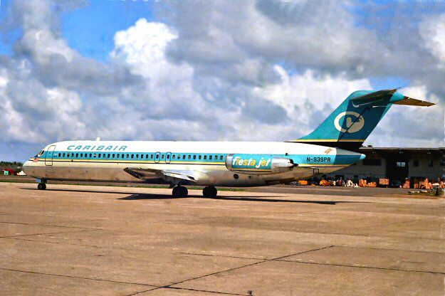 Caribair Dc 9 Later Acquired By Eastern Airlines Air Carrier Aviation Commercial Aviation
