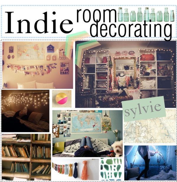 Indie room decorating by happylittlegreengirltips liked for Apartment bedroom ideas hipster