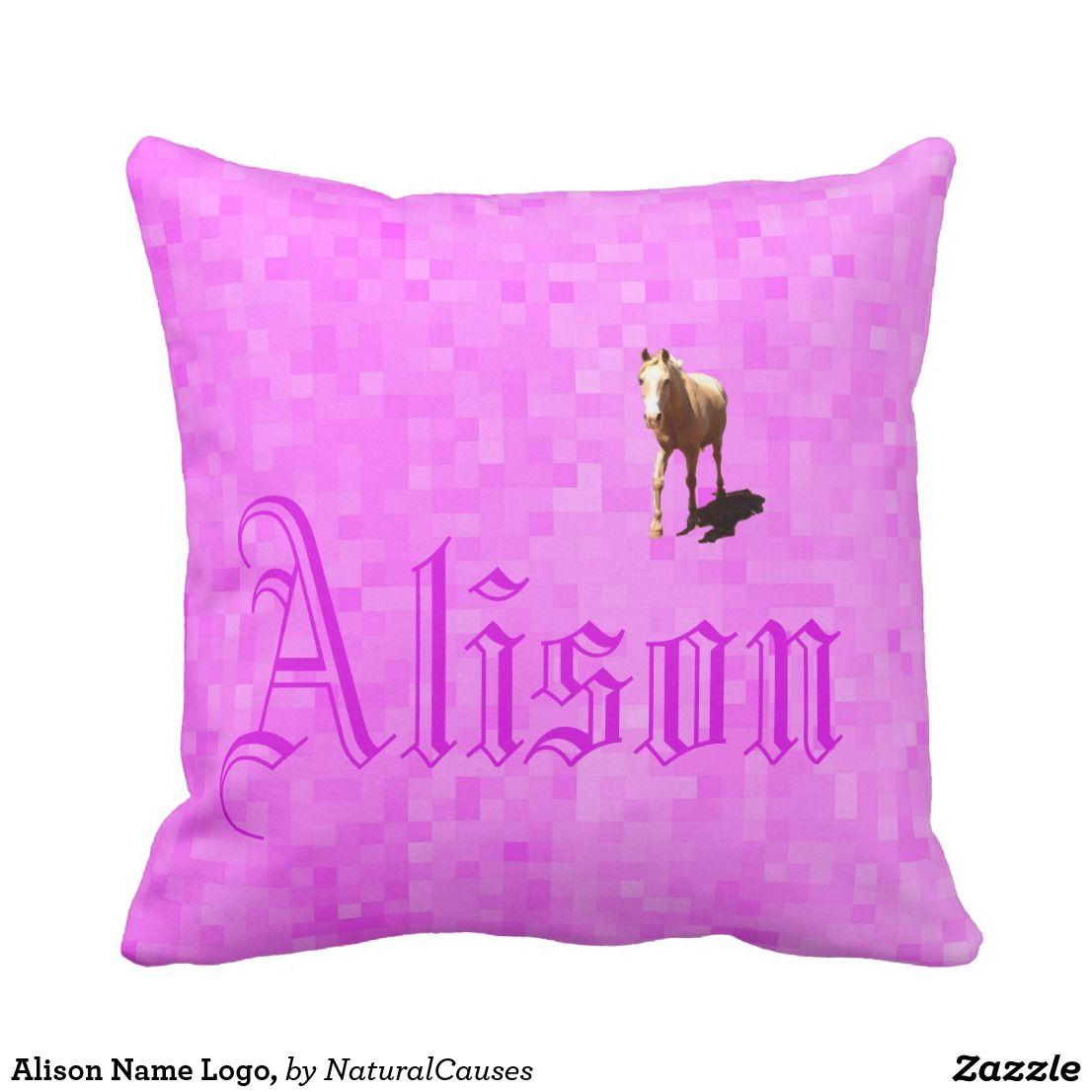Alison Name Logo, Cushion   Zazzle.com.au