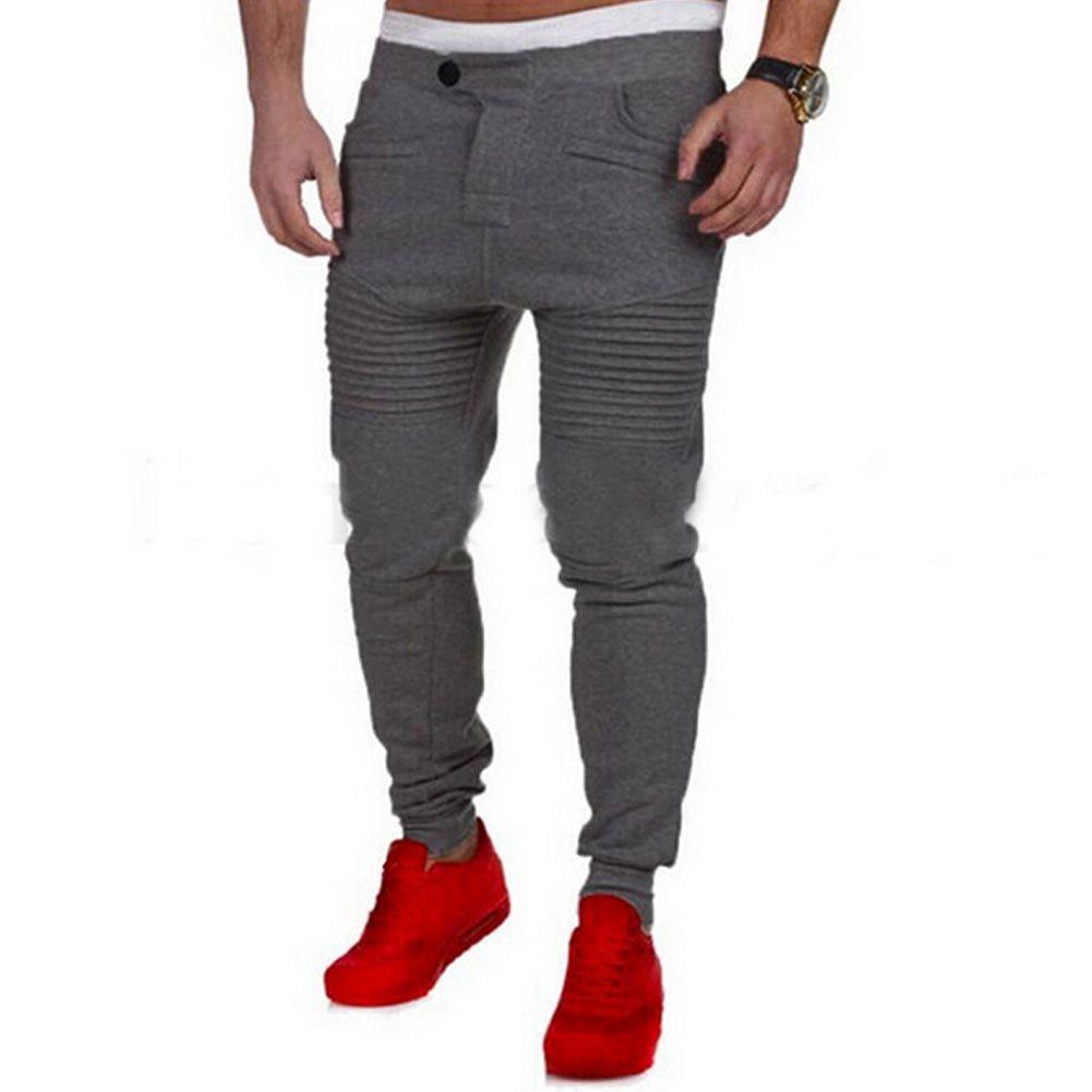 de2e3d8403 Aliexpress.com  Comprar 2018 Moda Hip Hop Baggy Harem Pantalones Pantalones  de Vestir de Los Hombres Pantalones Casuales Pantalones de Chándal Moletom  ...