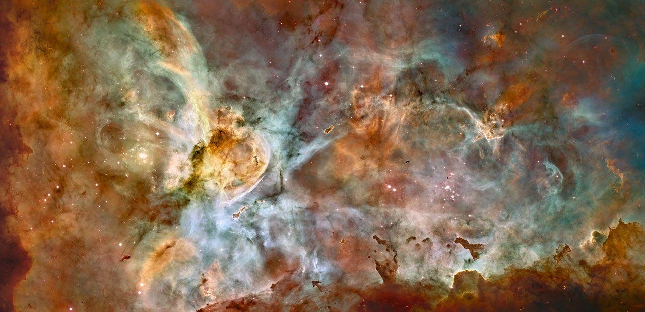 Zonas de nacimiento estelar en el impresionante escenario de la Nebulosa Carina (2007)