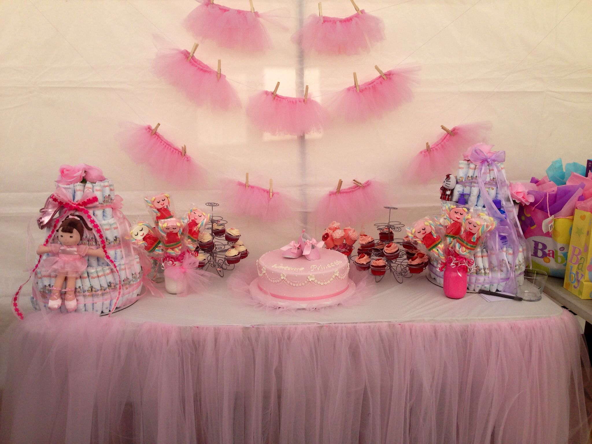 Ballerina baby shower Party decorations ideas