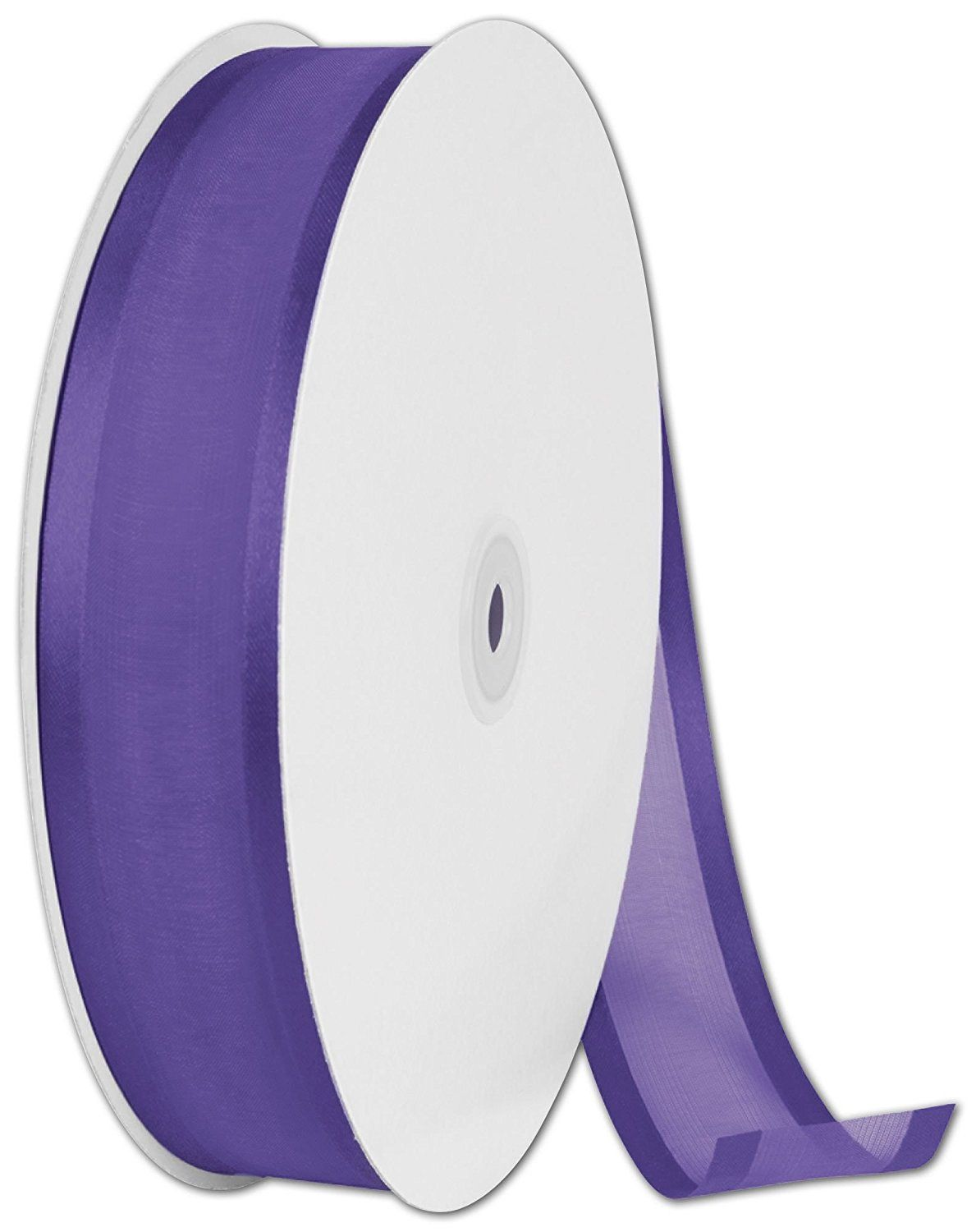 Ribbons Solid Color - Organza Satin Edge Purple Ribbon, 1 1/2' x 100 Yds (1 Roll) - BOWS-313-26 >>> Click image for more details.