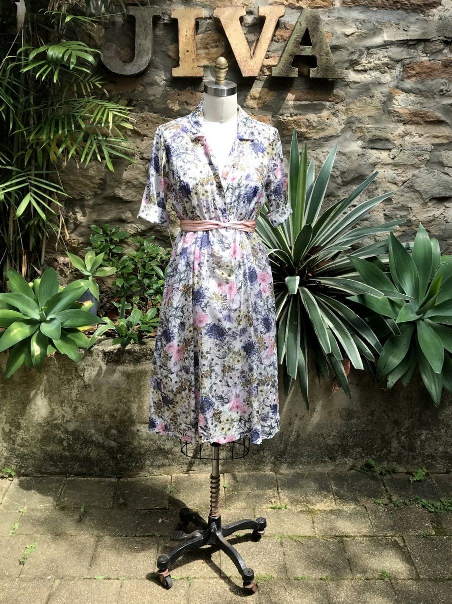 9f448137b1 Jiva Silk Cotton 50 s Dress - Wild Flower Print – Jiva Clothing