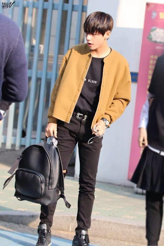 Taehyung Airport Fashion Taehyung Pinterest