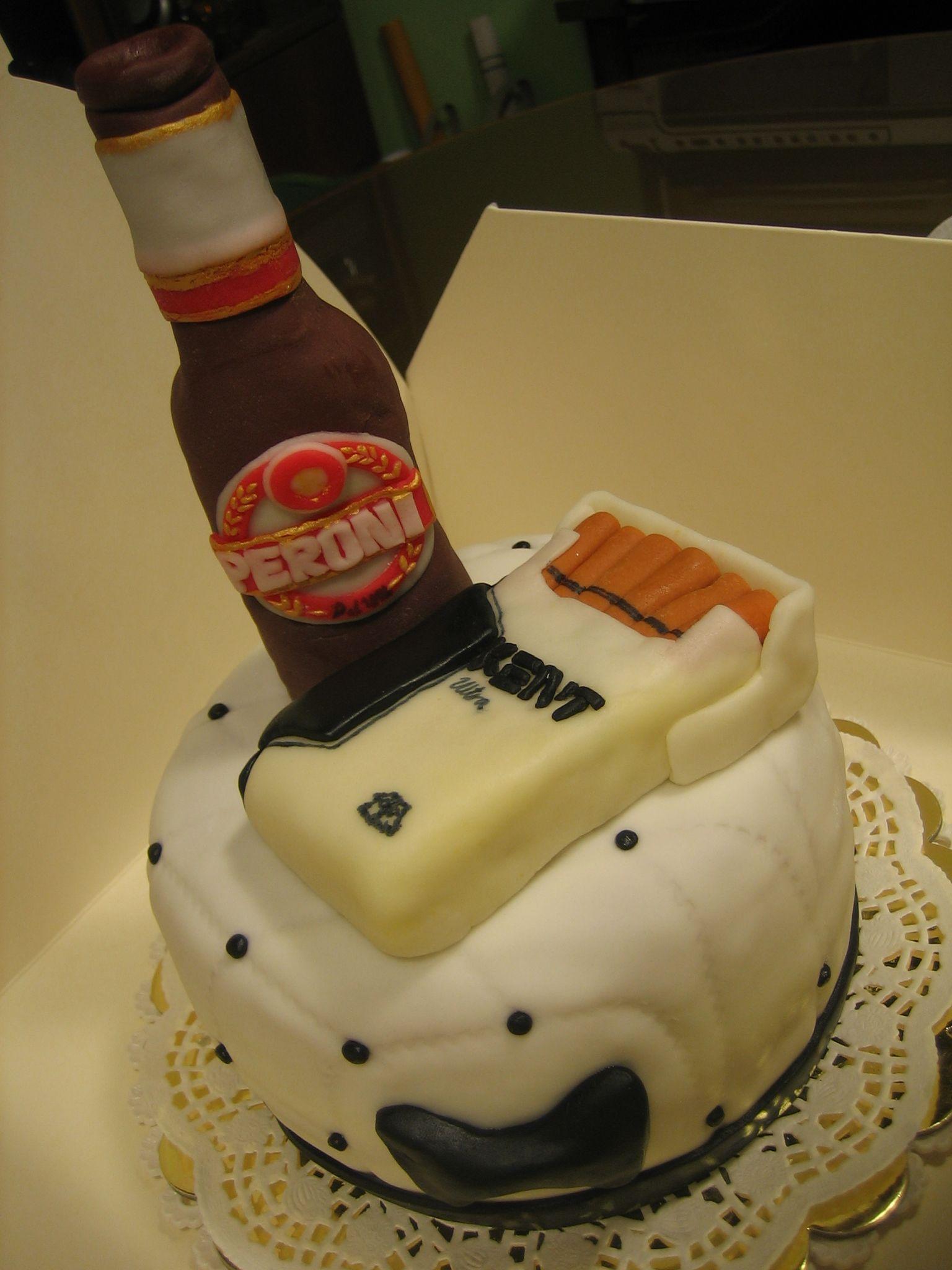 Beer And Cigarettes Cake Diy My Diy Pinterest Cake