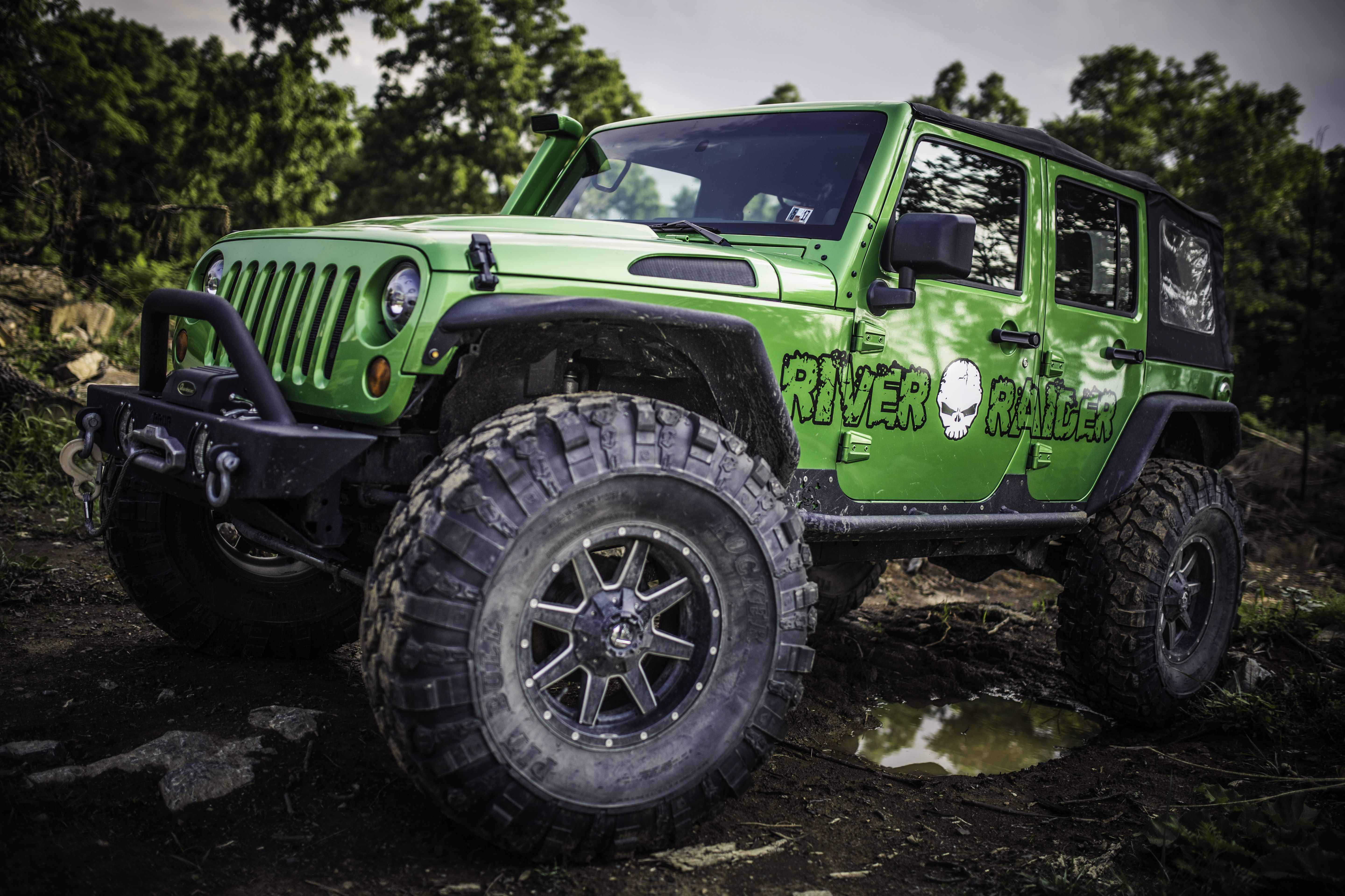 A Jeep Wrangler Outfitted With River Raider Parts Jeep Wrangler