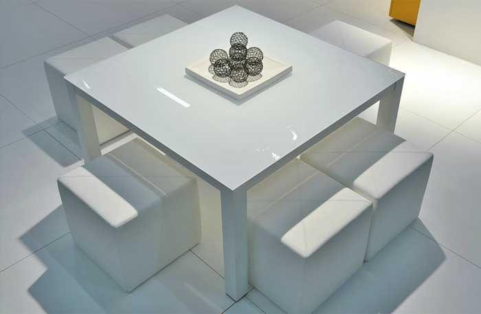 Karat moderne vierkante tafel een moderne tafel in strakke stijl dat is zeker de karat - Meubilair amerikaanse keuken ...