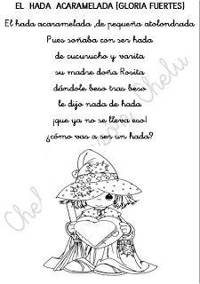 Cheluespecial Fichas De Poesias Infantiles Para Colorear El Rincón