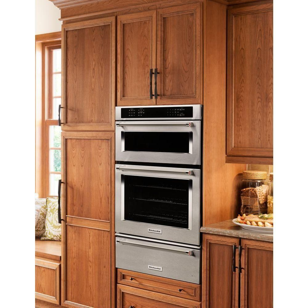 KitchenAid 30 In. Electric Even Heat True Convection Wall Oven With Built In  Microwave In Stainless Steel KOCE500ESS At The Home Depot   Mobile