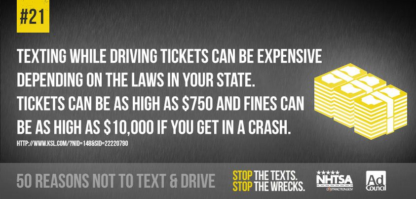 Stop The Texts 50 Reasons Not To Text Drive Dont Text And Drive Texting While Driving Traveling By Yourself