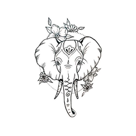$1.69 – Waterproof Temporary Fake Tattoo Stickers Cute Elephant Animals Cartoon #ebay #Fashion