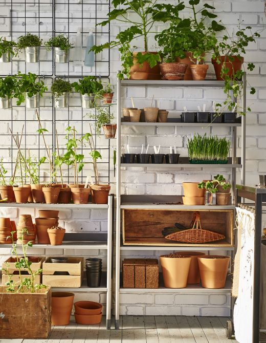 Get Your Gardening Things Organized With Outdoor Shelving For Pots And  Plants