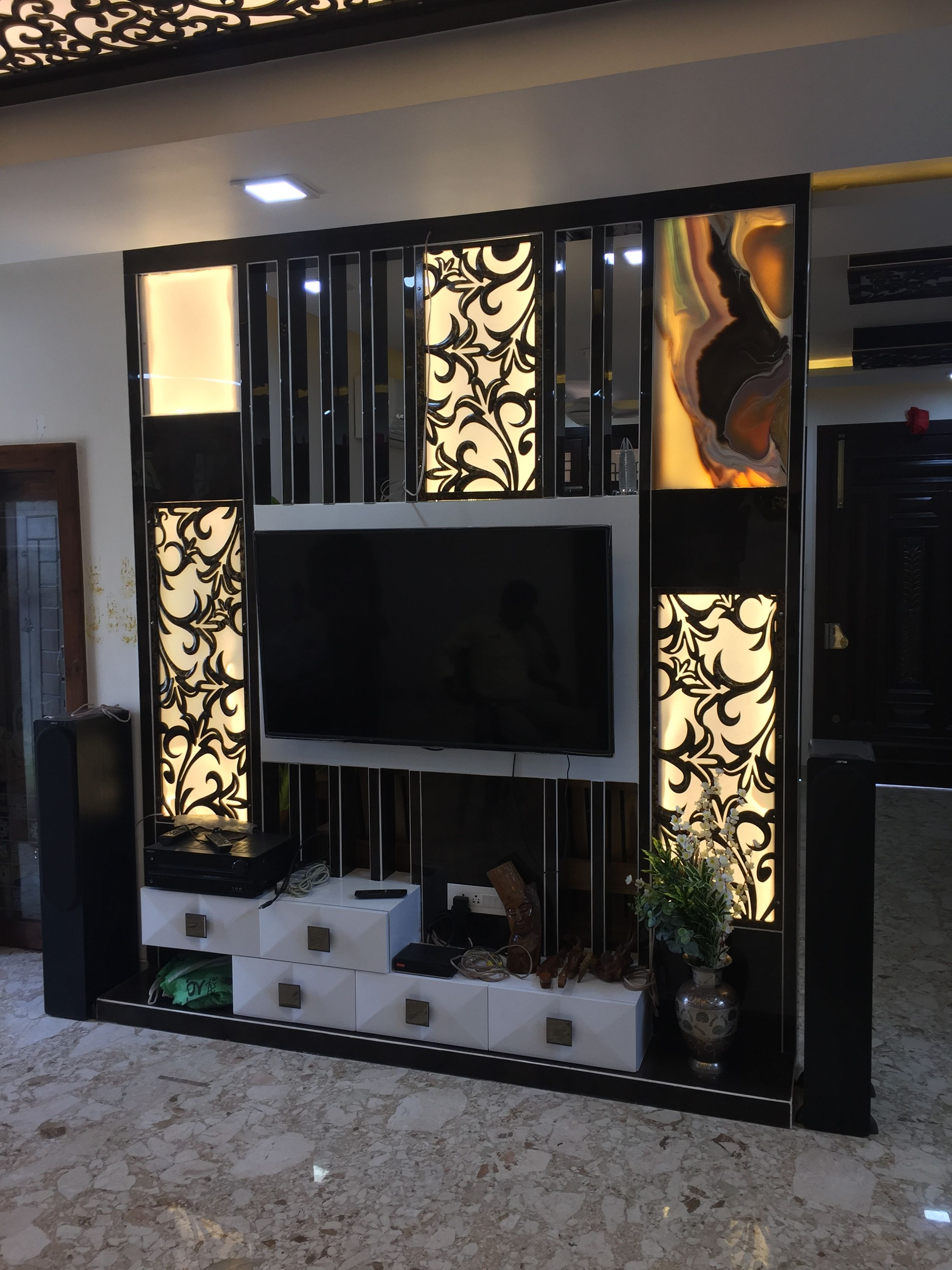 Tv Unit Designs In The Living Room: LCD Unit Design Best LCD Unit Cutwork Manoj Prajapati