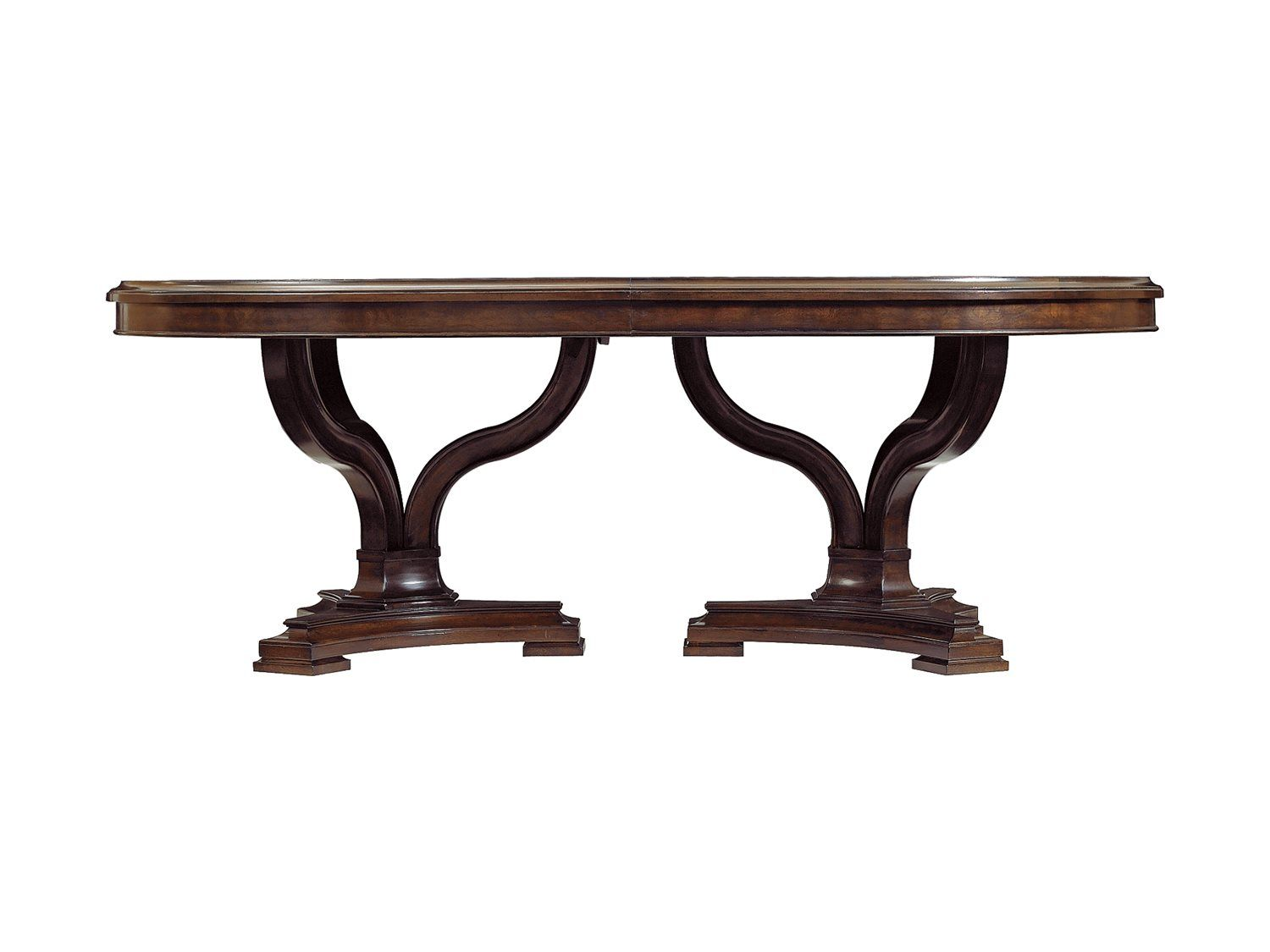 Stanley furniture avalon heights chelsea 84 x 50 oval art epoch pedestal dining table