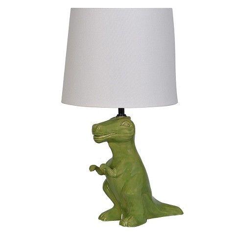 Marvelous Dinosaur Table Lamp Green   Pillowfort