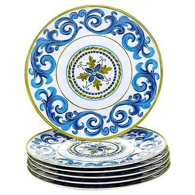Dinner Plate 11in Melamine Blue Grotto Set of 6 - Certified International  sc 1 st  Pinterest & Dinner Plate 11in Melamine Blue Grotto Set of 6 - Certified ...