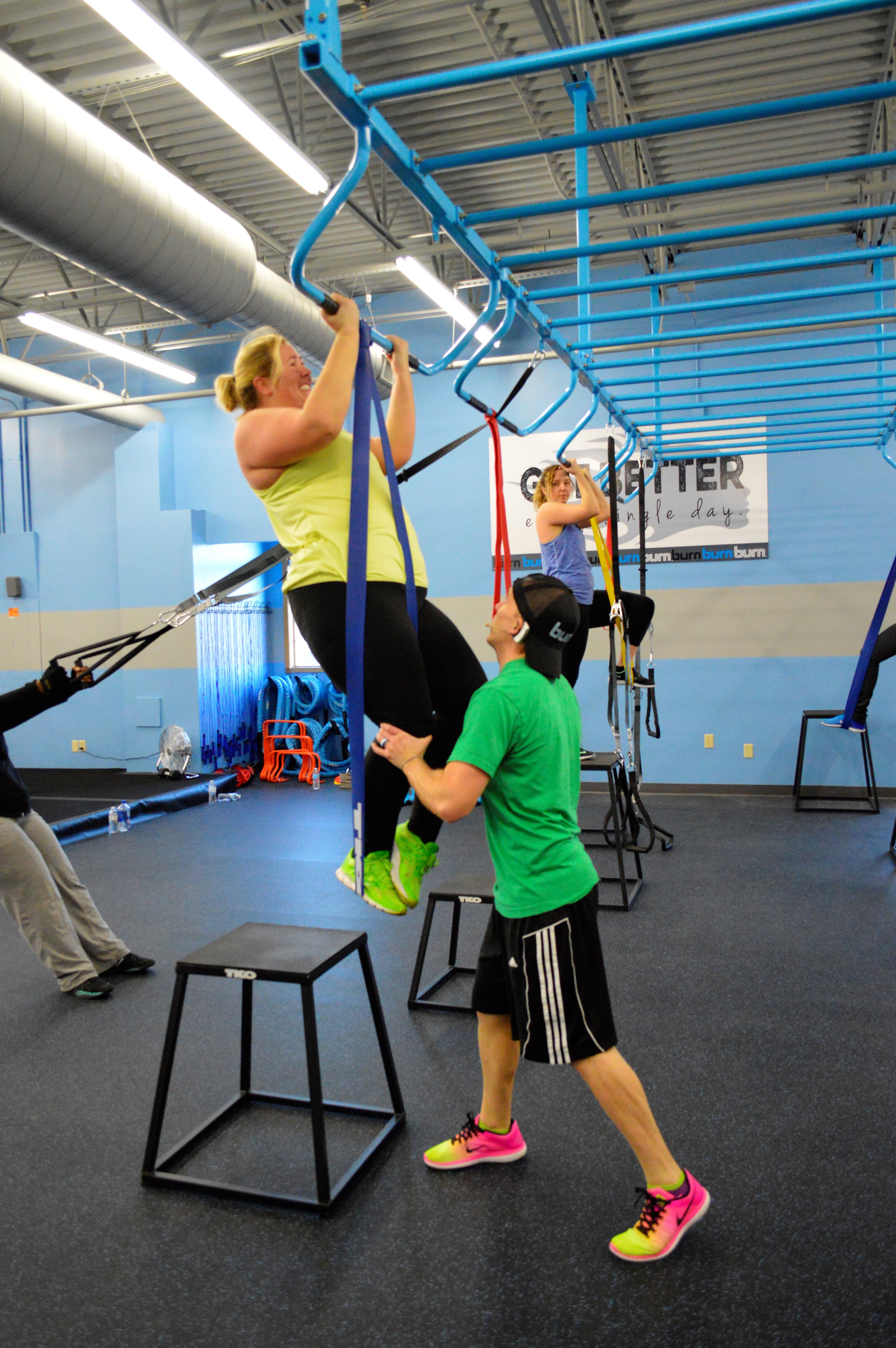 Pin By Burn Boot Camp On A Look Inside Burn Basketball Court Gym Gym Equipment