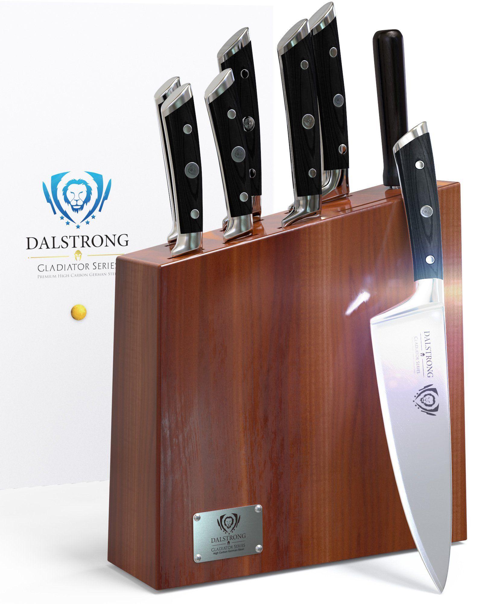dalstrong knife set block gladiator series acacia wood block set dalstrong knife set block gladiator series acacia wood block set german hc stainless steel