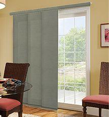 Comfortex Envision Panel Track Blind Classic Door Coverings Sliding Door Blinds Sliding Door Window Treatments Panel blinds for patio doors
